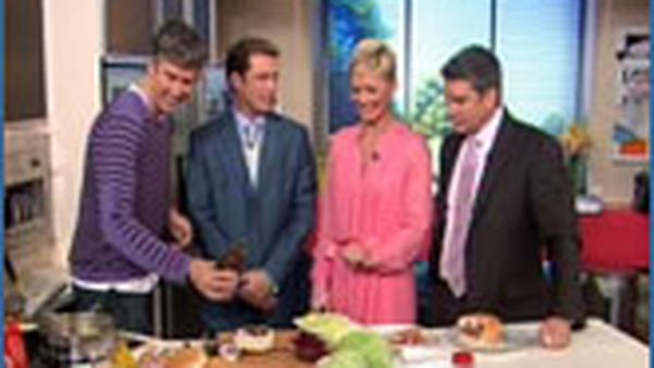 Matthew Evans with the Today Show hosts