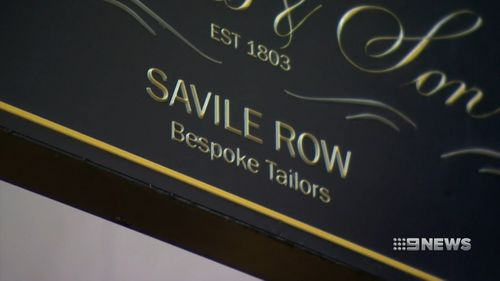 Savile Row is steeped in history. (9NEWS)