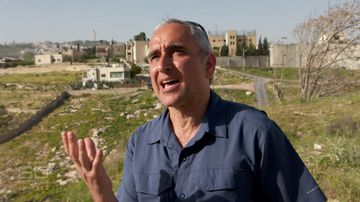 Australian Jew Daniel Luria claims he has more right to the land than Palestinians who were born there. Picture: 60 Minutes
