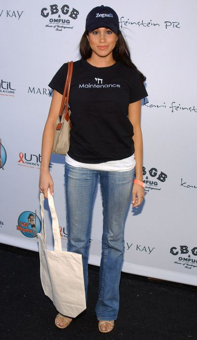Meghan Markle at the pre-emmy lounge in Los Angeles in 2005