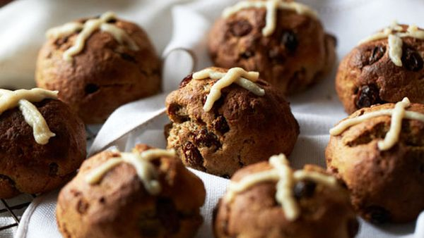 Brooke Meredith's healthier hot cross buns