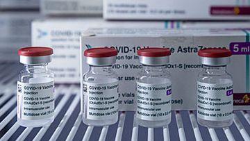 AstraZeneca COVID-19 vaccine vials (Getty)
