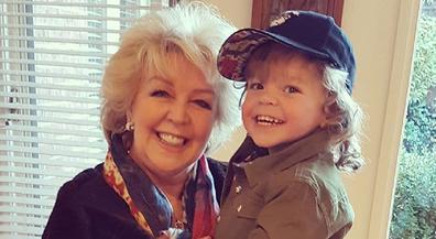 Patty Newton with grandson Monty