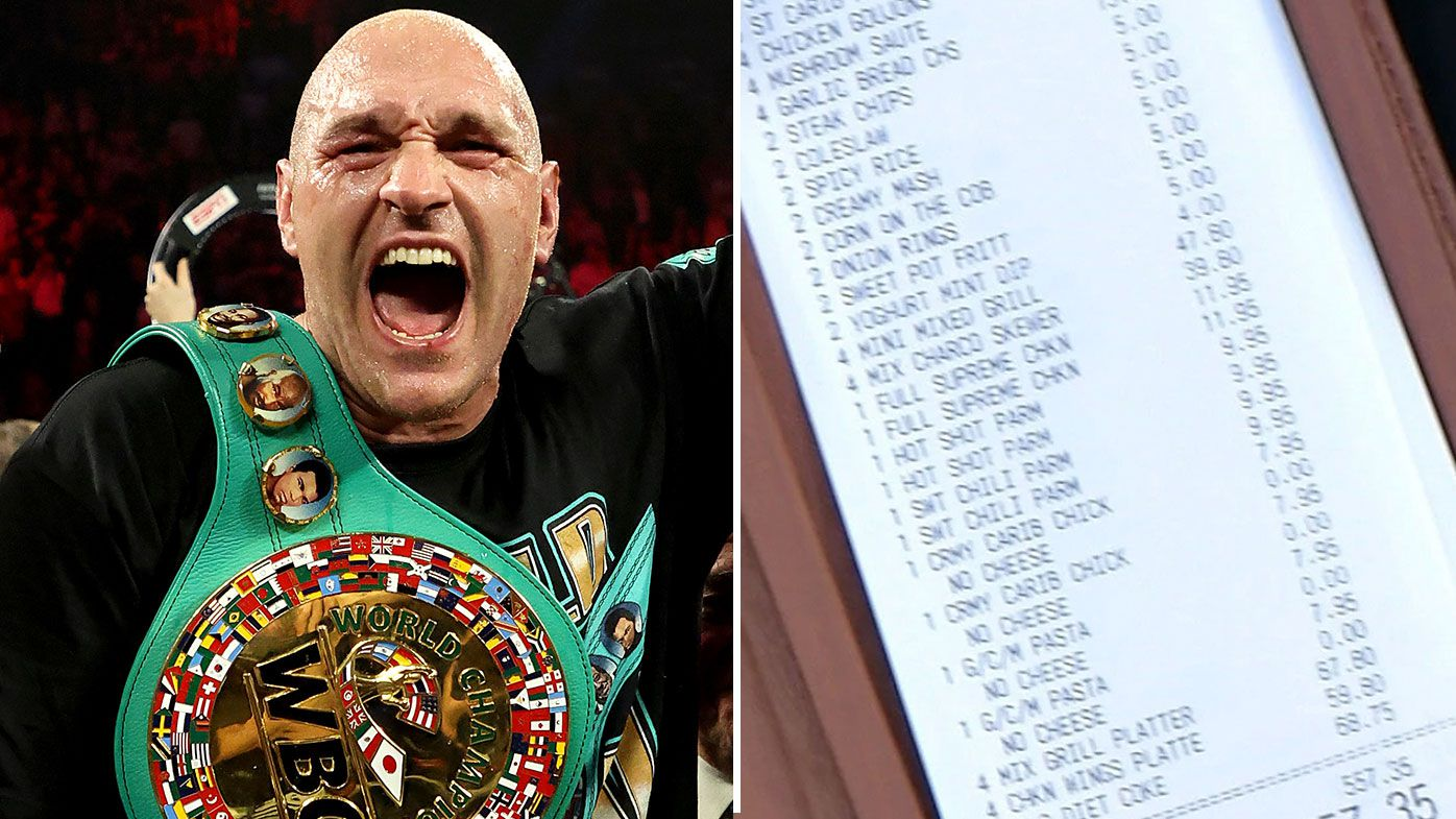 Tyson Fury's massive Easter lockdown delivery order