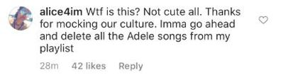 Adele, Notting Hill Carnival, London, cultural appropriation, Instagram photo, comments