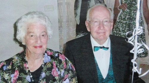 Patricia and Donald Logan on their 60th wedding anniversary. (Supplied)