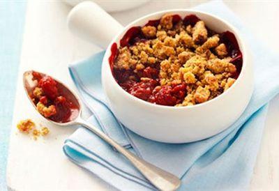 "Recipe: <a href=""http://kitchen.nine.com.au/2016/06/06/16/42/rhubarb-and-raspberry-nut-crumbles"" target=""_top"">Rhubarb and raspberry nut crumbles</a>"