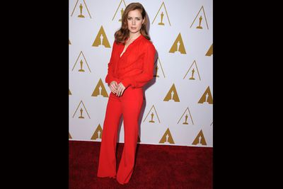 <i>American Hustle</i> actress Amy Adams is in the red!