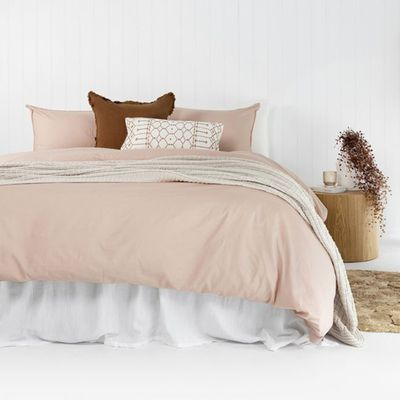 Temple Organic Quilt Cover Set (Rosewater) — The Block Shop