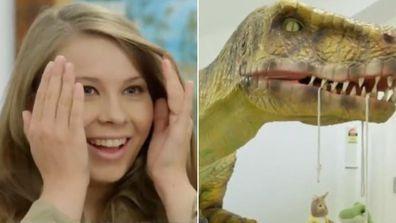 Bindi Irwin is surprised with dinosaur-themed nursery.