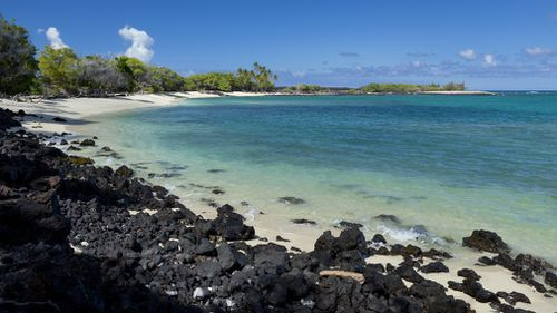 A 25-year-old man was taken to hospital in a critical condition after being bumped off his paddleboard by a shark at Hawaii's Kukio Beach over the weekend. Picture: Getty.