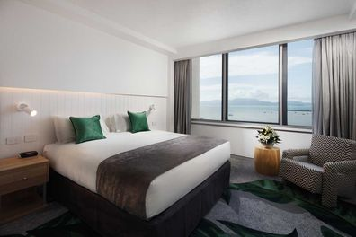 The King Ocean View room on the sixteenth floor is an effortlessly chic and fun space.