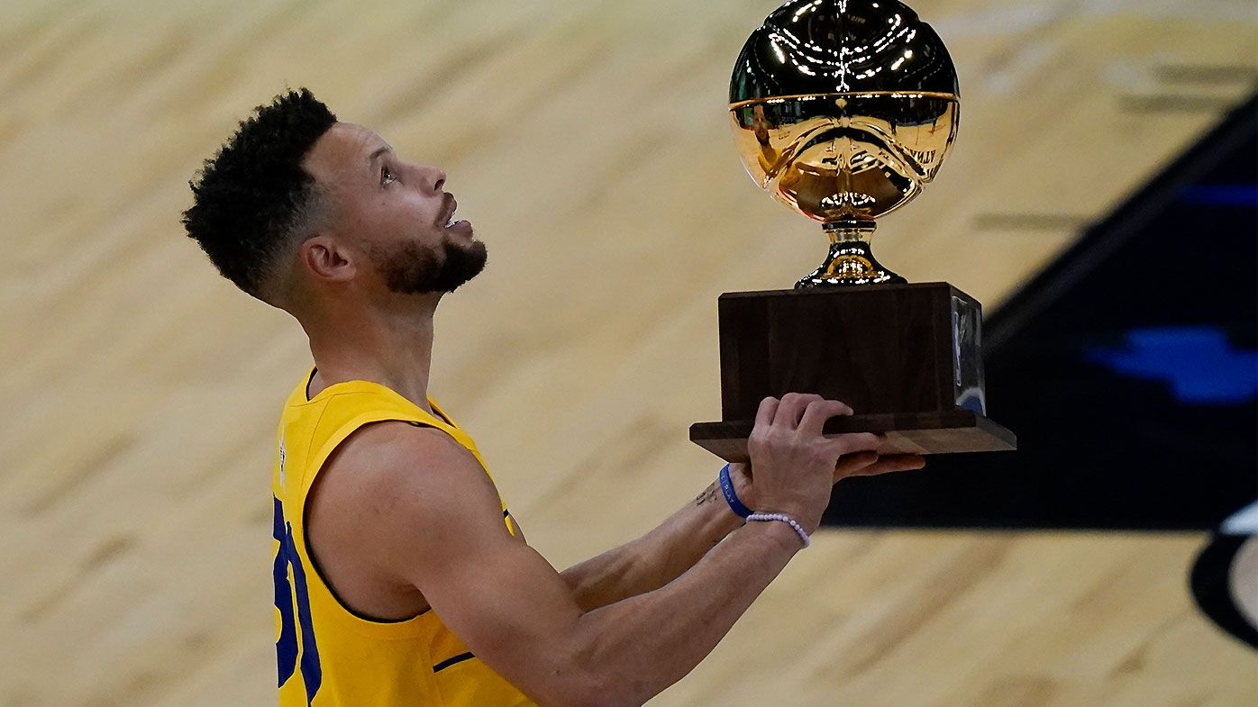 'A cheat code': Stephen Curry shatters Three-Point Contest record to claim second crown
