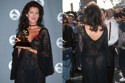 While we could have picked the GRAMMY win, nobody expected this daring dress choice from Celine Dion in 1993.