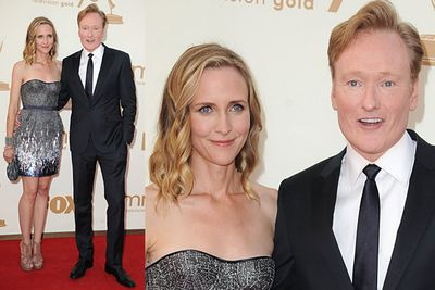 Conan's wife is a hottie! Good for him.