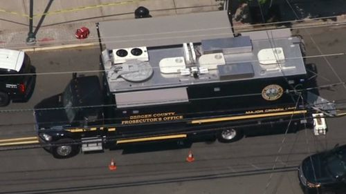 The officers were uninjured in the incident. (9NEWS)