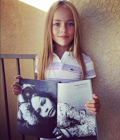 Kristina began modelling when she was three-years-old. (Instagram)