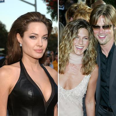 Angelina Jolie, Jennifer Aniston and Brad Pitt