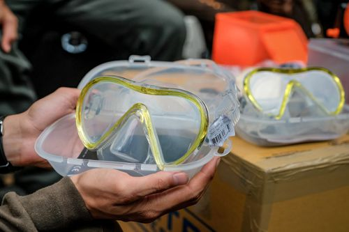 Full face masks have been shipped in for the boys, with scuba diving still the number one rescue option being considered. Picture: Getty