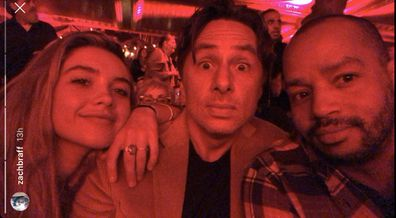 celebrity, couples, Zach Braff, Florence Pugh
