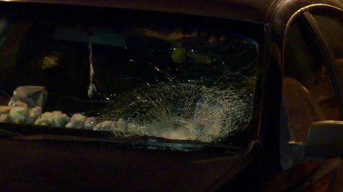 The man hit the windscreen and suffered serious injuries.