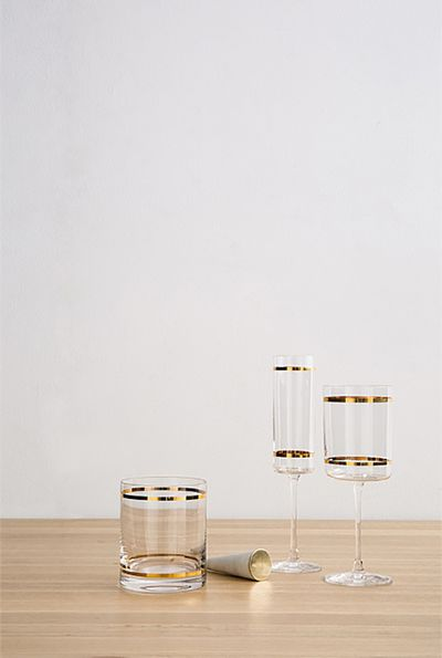 "Harper tumbler $12.95, wine glass $14.95, champagne flute $14.95, <a href=""https://www.countryroad.com.au/shop/home"" target=""_blank"">Country Road</a>"