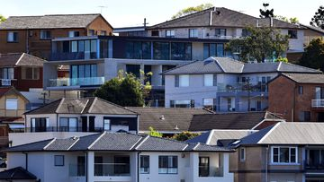 A file photo of houses in Gladesville, Sydney.