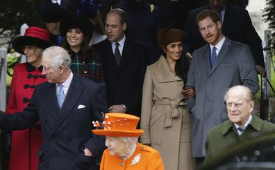 The royals at a Christmas Day service in 2017.
