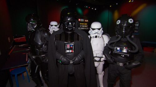 A host of other familiar faces at the exhibit. (9NEWS)