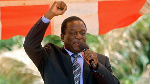 Emmerson Manangagwa is tipped to succeed Robert Mugabe as Zimbabwe president. (Photo: AP).