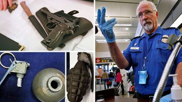 Eleven guns a day seized from passengers at US airports