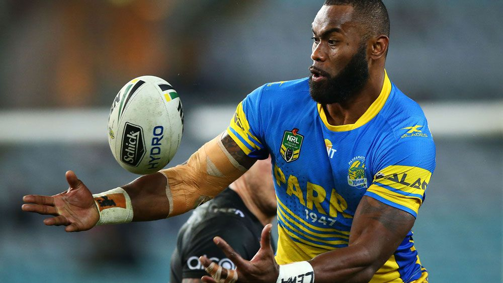 NRL 2017: Parramatta Eels winger Semi Radradra scores runaway try against New Zealand Warriors