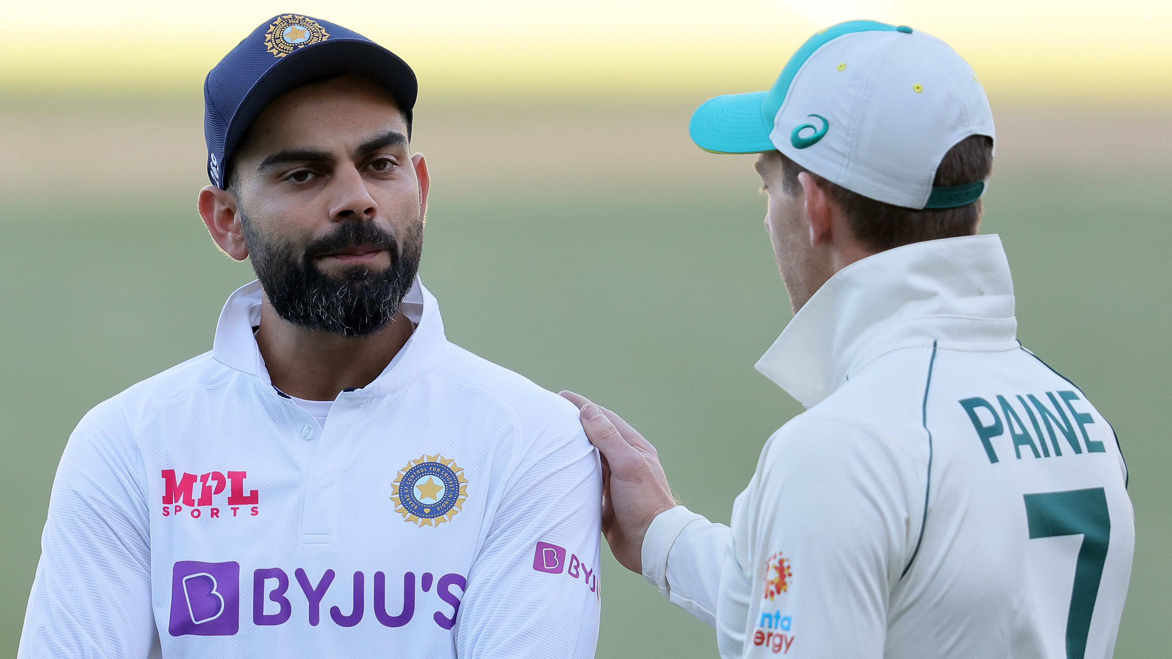 Captains Virat Kohli and Tim Paine react to Australia's incredible comeback first Test win against India