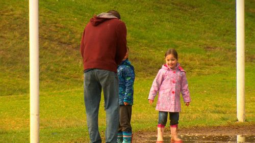 The experiment involved a former police officer approaching children in a park (9NEWS)