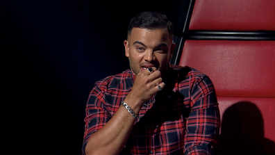 Guy Sebastian is overcome with emotion watching his brother Chris perform on The Voice 2020