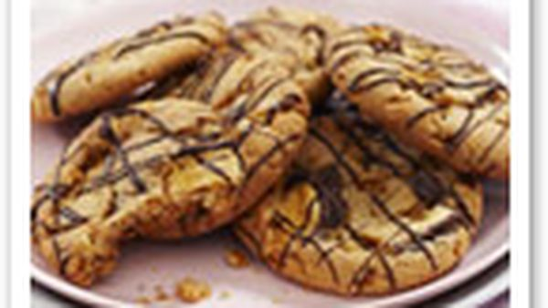 Peanut butter and honeycomb biscuits