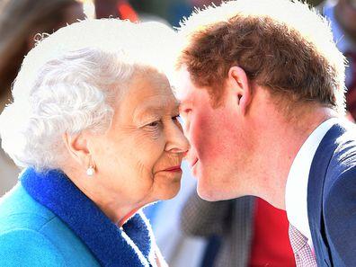 Queen Elizabeth II with her grandson Prince Harry
