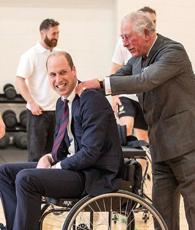 With Prince William on February 12 at the Defence Medical Rehabilitation Centre near Loughborough.
