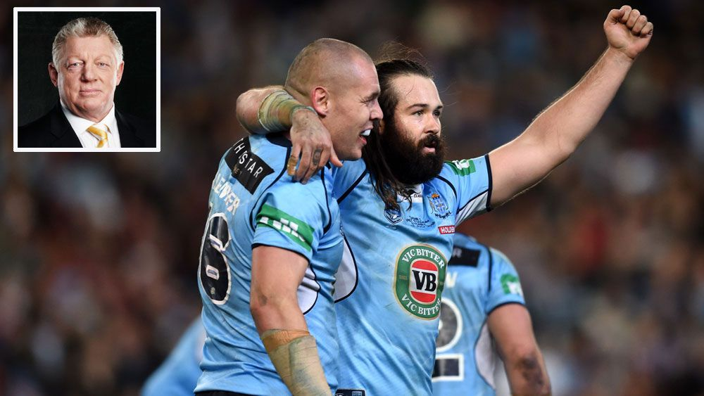 Phil Gould (inset), David Klemmer (l) and Aaron Woods.