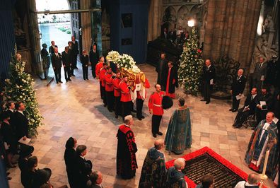 Princess Diana funeral at Westminster Abbey.