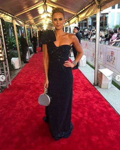 """<p>They may have kept us waiting but Australian TV's night of nights is finally here.</p> <p>The 2018 Logies Awards red carpet has kicked off, and the A-listers of the small screen have brought their sartorial A-game.</p> <p><em>The Today Show</em>'s Sylvia Jeffreys turned heads for all the right reasons in a metallic navy blue gown by Rebecca Valance, complete with a stunning updo and bold drop star earrings by Justine Clenquet.</p> <p>Meanwhile, a pregnant&nbsp;<a href=""""https://style.nine.com.au/2018/07/01/15/14/carrie-bickmore-logies"""" target=""""_blank"""" title=""""CarrieBickmore"""">Carrie Bickmore</a> stunned in a nude, floor-length Paolo Sebastian dress complete with back fringing detail, while she kept her hair in a low pony tail.</p> <p>Click through to take a look at the most-talked about looks of the night.</p>"""