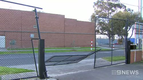 The church curator arrived the following morning to find the fence destroyed. (9NEWS)