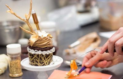 This $900 cupcake features 24-karat gold leaves and rare Cognac