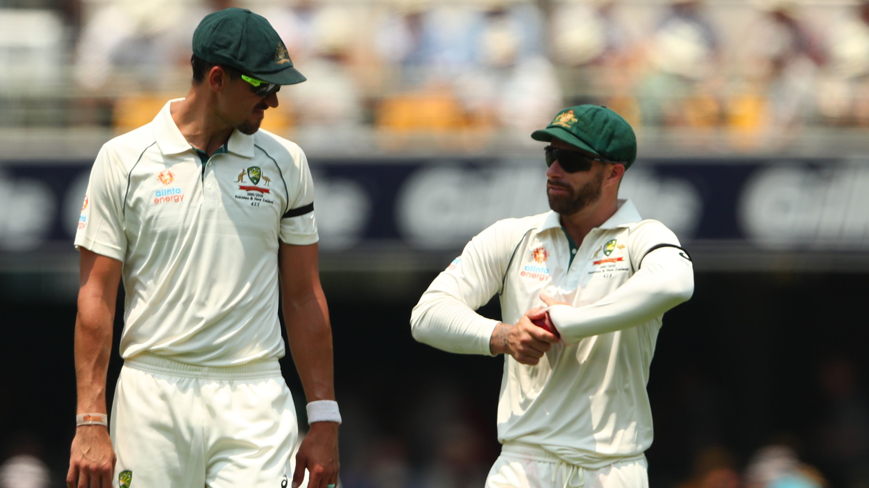 Mitchell Starc and Matthew Wade talk.