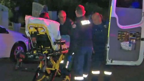 A man has been stabbed in a Guilford driveway.