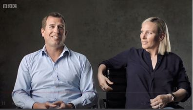 Peter Phillips (left) and Zara Tindall (right)
