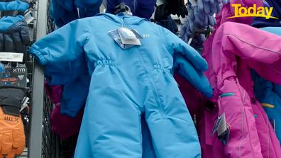 Kids snow gear in particular is cheap.