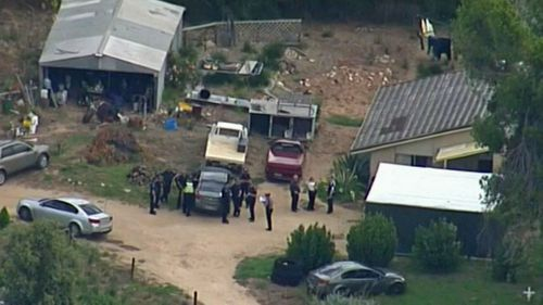 The 24-year-old was allegedly bound inside a disused pig shed on his property.