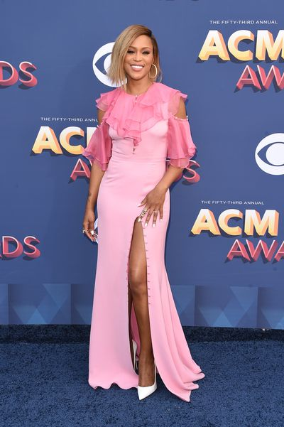 Singer Eve wearing Prabal Gurung