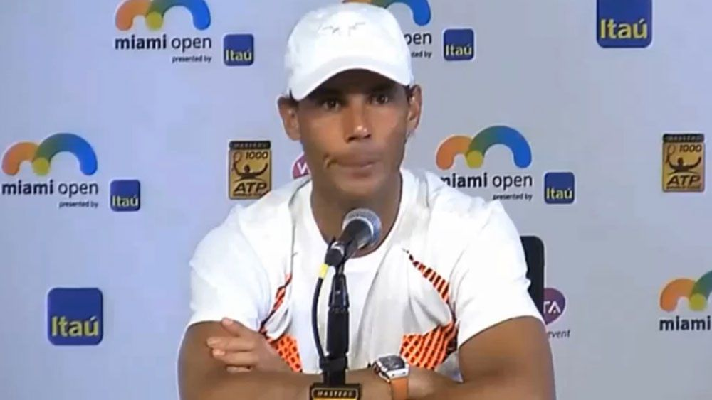Spanish tennis ace Rafael Nadal congratulated on win after losing Miami Open